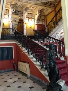 The entrance stairway