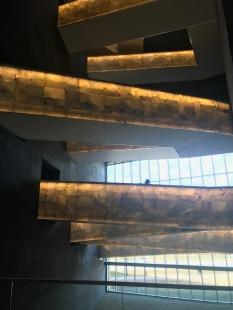 Inside: museum has five floors